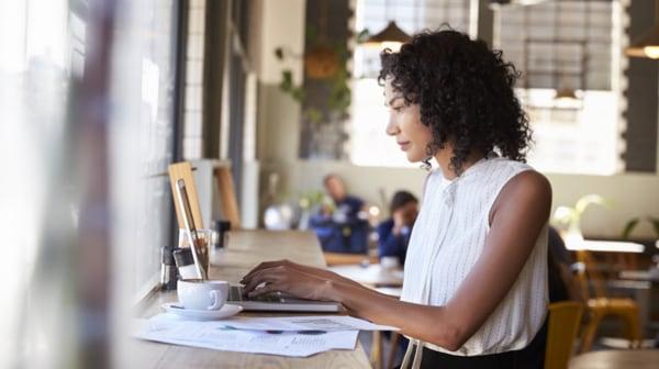 Woman using Wi-Fi image