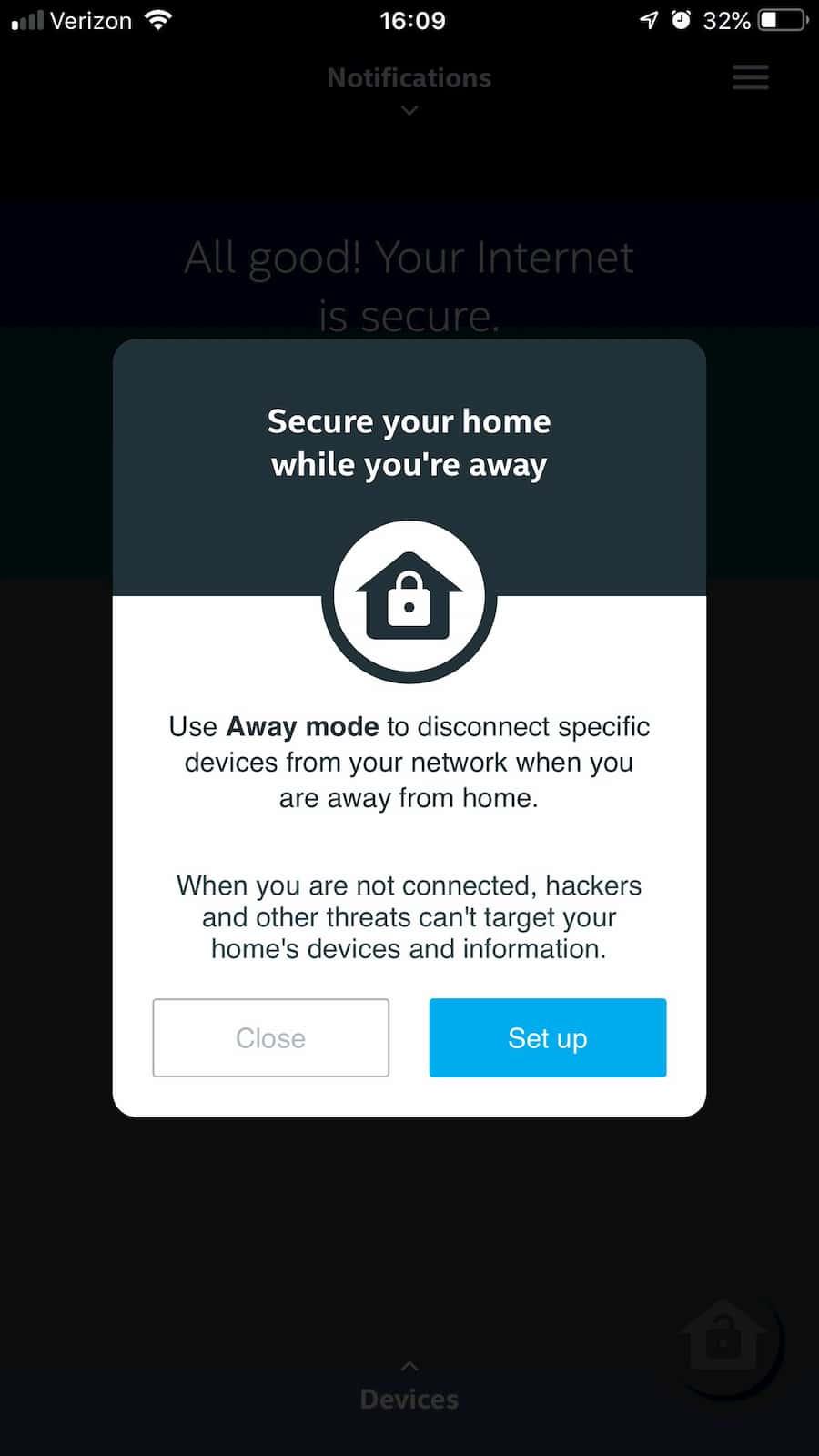 D-Fend app Away Mode