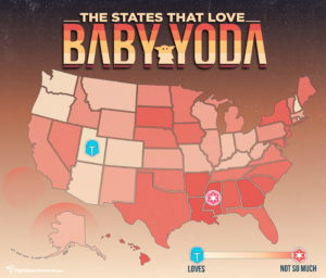 Baby Yoda Popularity Map
