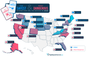 Online Dating Safety map