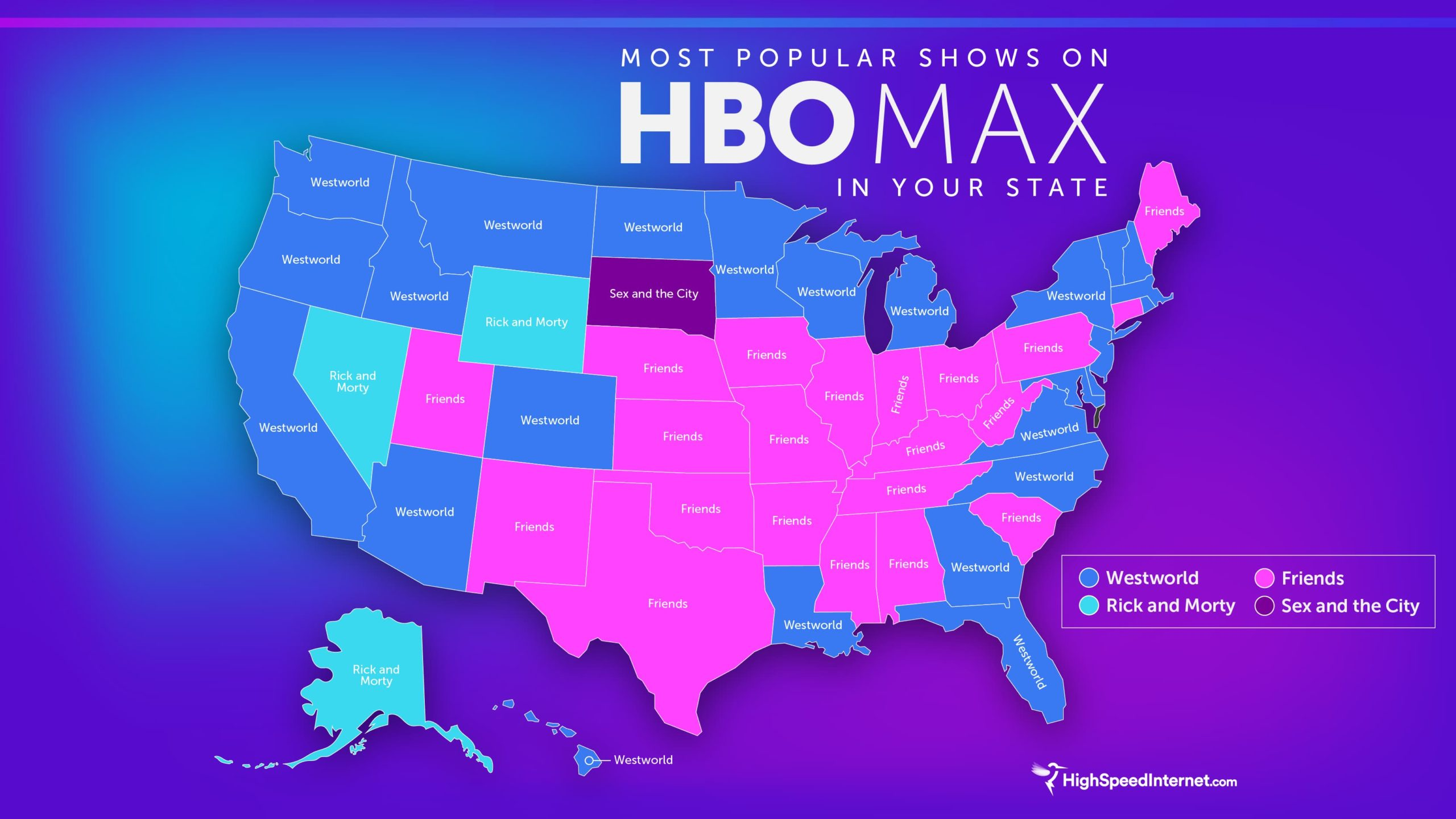 H B O Max Favorite Shows by State