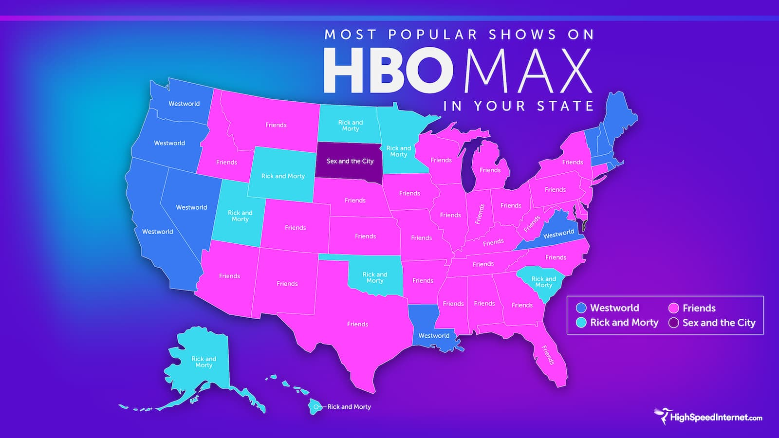 Each State's Favorite H B O Max Show