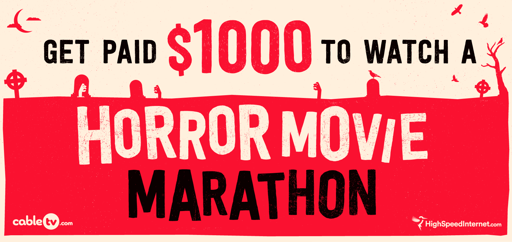 Get paid $1,000 to watch a horror movie marathon this Halloween