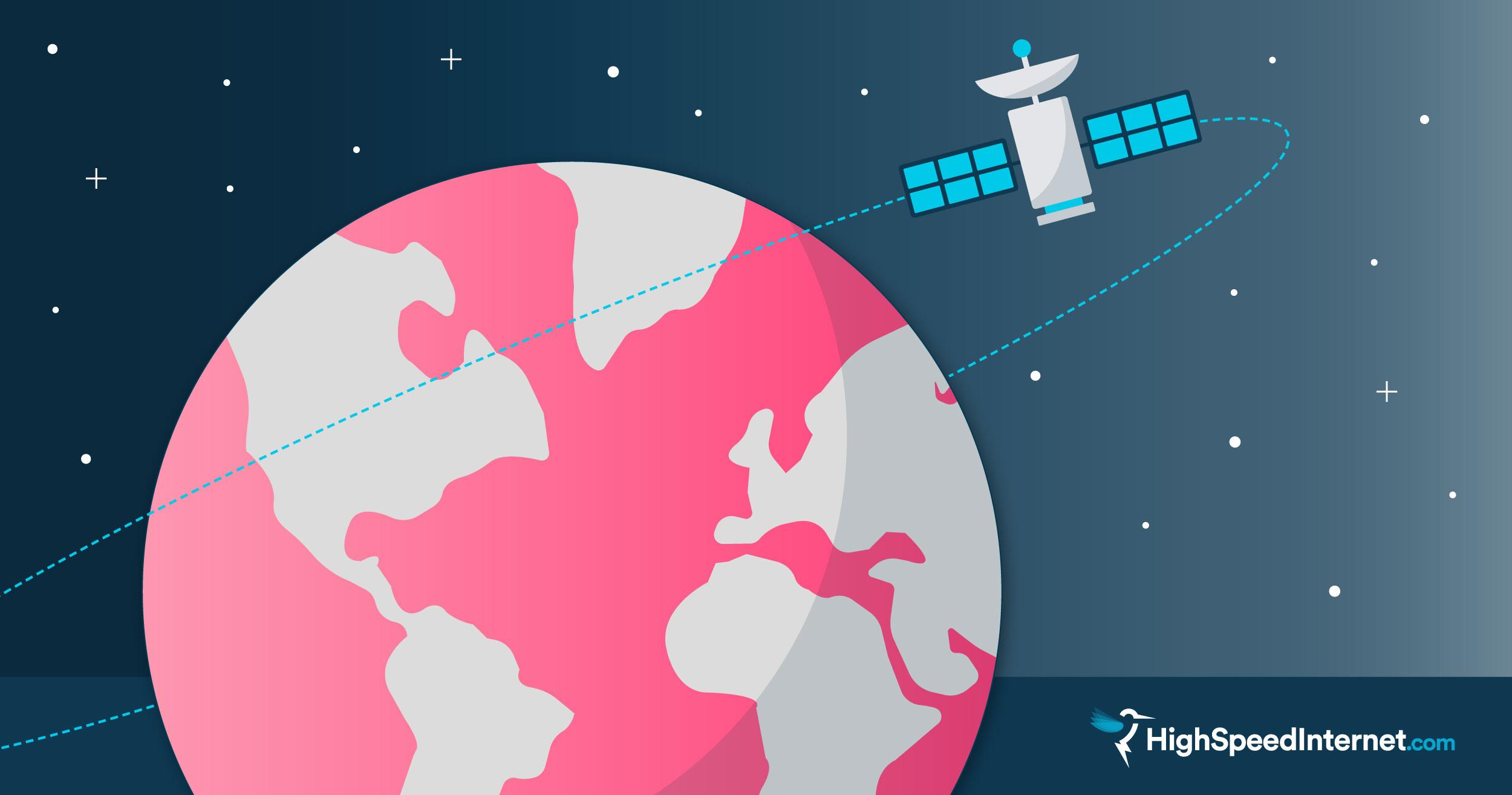 Image of a communication satellite in orbit