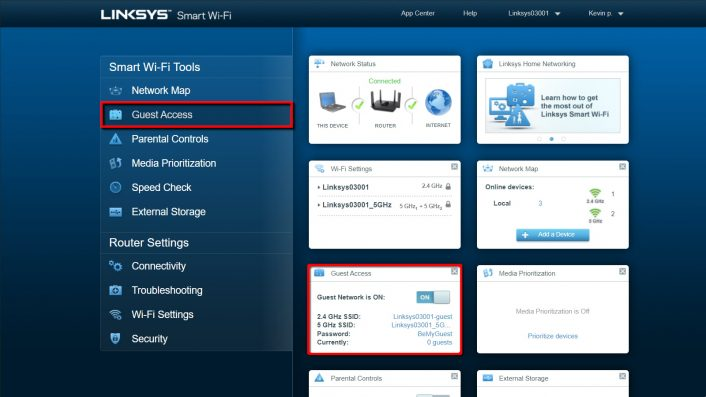 Limksys Router Interface