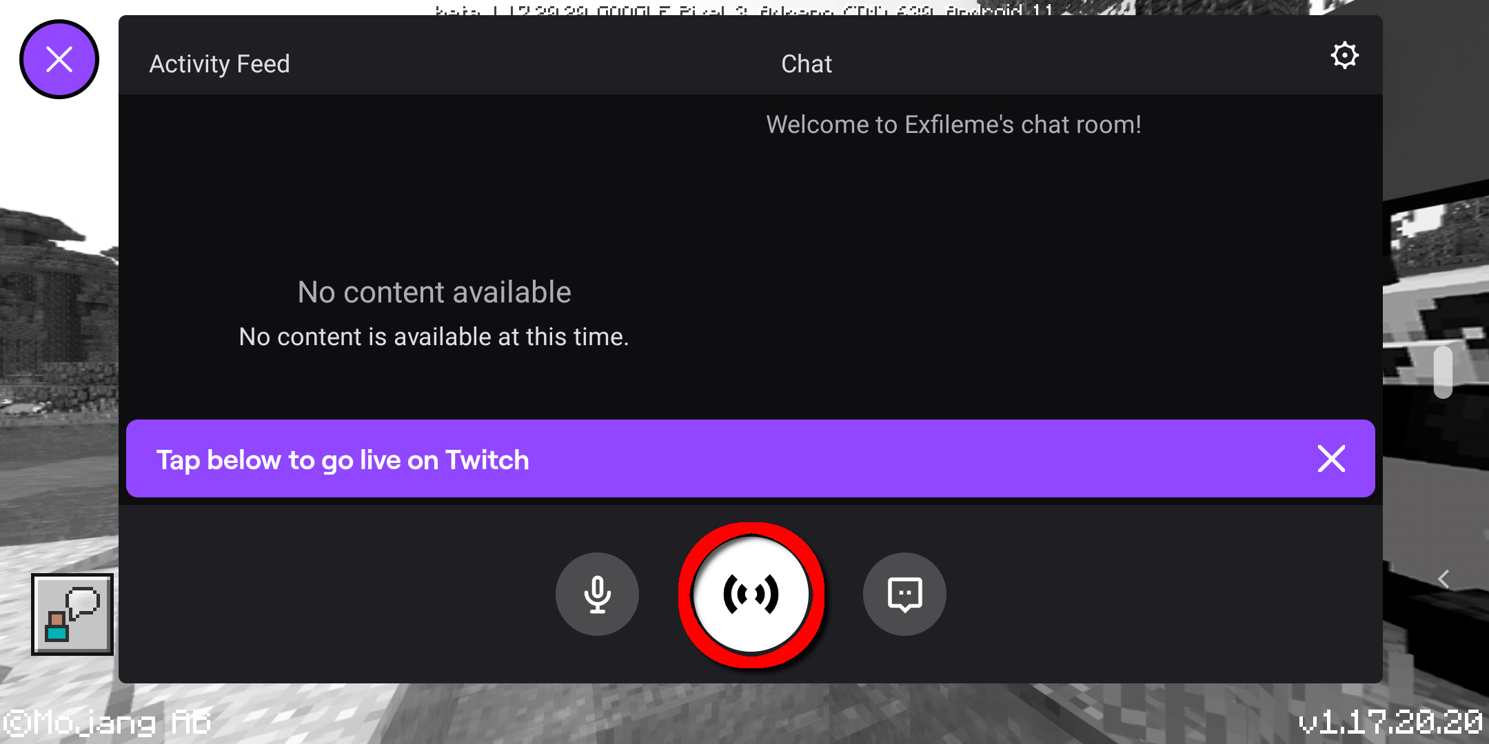 Android Start Twitch Stream