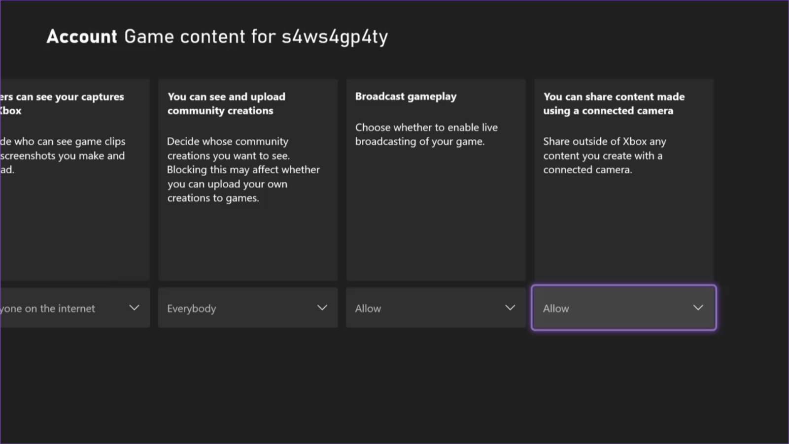 Xbox allow broadcast gameplay