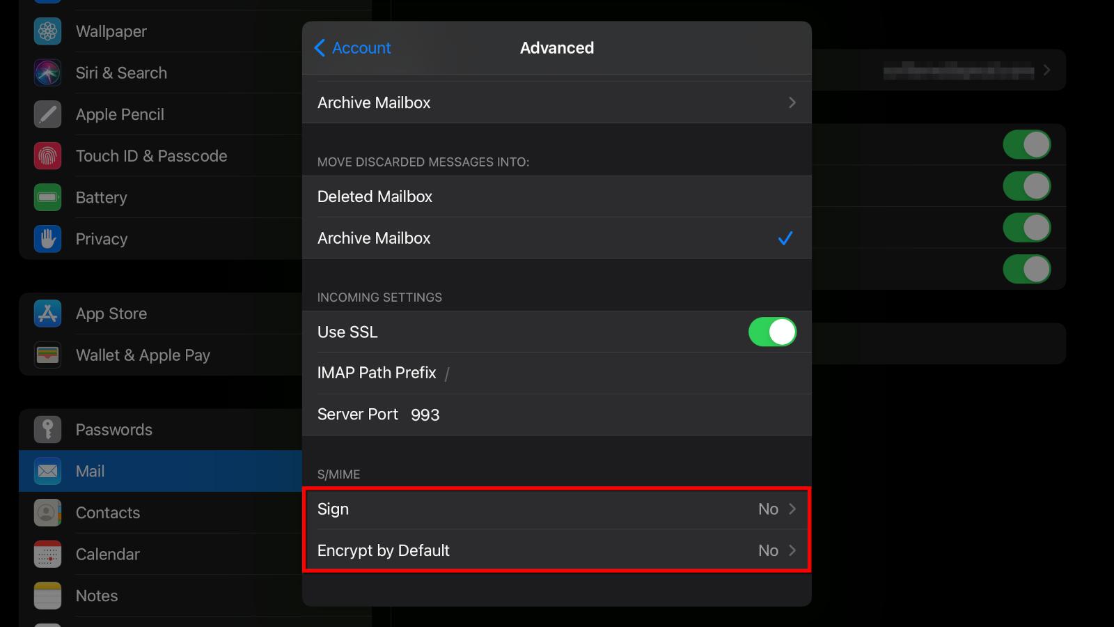 iPad Use SMIME Certificate