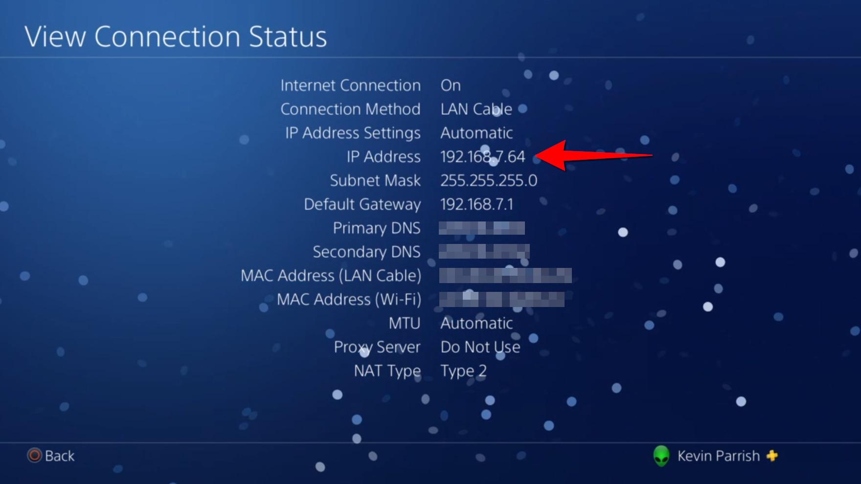 PlayStation 4 Find IP Address