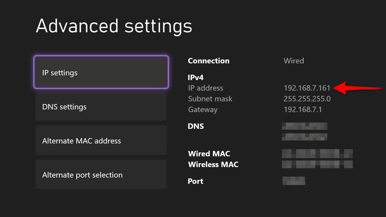 Xbox One Find IP Address